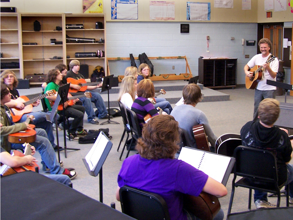 High School Guitar Class